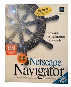 NETSCAPE NAVIGATOR 2.0 Personal Edition Windows 95 & 3.1 Vintage NEW Sealed 1996