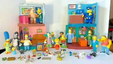 4 Simpsons World Of Springfield Playsets Playmates 16 people +32 Extras (52)
