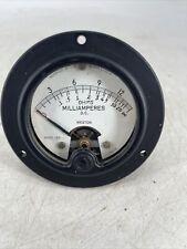 Vintage Weston Instruments Model 1301 Dc Ma Milliamperes Gauge