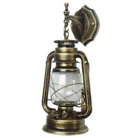 Vintage Rustic Lantern Wall Sconce Lamp Outdoor Porch Patio Retro Light Fixtures