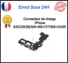 DOCK CONNECTEUR DE CHARGE + MICRO + JACK IPHONE 5 5C 5S 6 6 6S 7 7 Plus 8 X XR