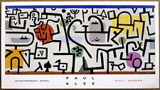 Paul Klee  Rich Harbor Kunts Museum Basil Vintage Lithograph 1988