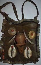 "Sale! Naga Shaman Bag, Skull, Shells, Tusk, Coin 24"" Prov"