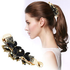 Women Banana Hair Clip Claw Holder Butterfly Resin Hairpin Vintage 108x31mm