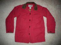 Vtg LL BEAN Red Insulated Barn Chore Work Coat Jacket Womens Size Regular Medium
