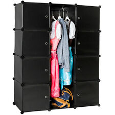Shelf storage Boltless Wardrobe Clothes Shelving System Dresser bedroom black