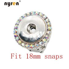10pcs Snap Charms Ring Multi Styles Fit 12/18mm Snap Button For Snap Jewelry