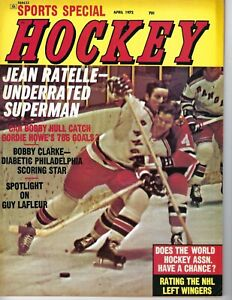 1972 Sports Special Hockey magazine Jean Ratelle New York Rangers GOOD