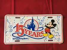Disney License Plate - Mickey Fifteen Years New Sealed