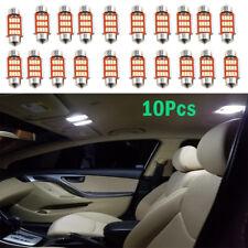 10pcs 39mm 4014 12SMD C5W LED Festoon Dome Car Interior Reading Lamp
