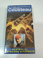 Jacques Cousteau - Australia un Mundo Diferente - VHS Tape Cinta Español