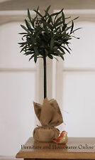 2 x Faux Olive Tree with Weighted Hessian Base Real Looking Decor BRAND NEW
