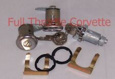 1961-1964 Corvette Door Lock and Ignition Cylinder Set with Octagon Head Key