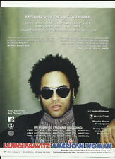 LENNY KRAVITZ American Woman TRADE AD POSTER for 5 Re Release CD 1999 MINT