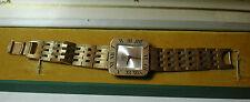NOS MINT GARON Antique Reno RETRO Wrist Watch 17 Jewels Gold Dial Metal Band