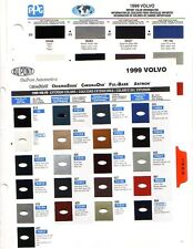 1999 VOLVO PAINT CHIPS (DUPONT AND PPG)