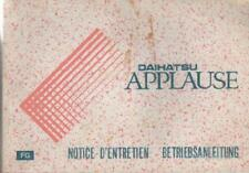 DAIHATSU APPLAUSE Betriebsanleitung 1990 Bedienungsanleitung Bordbuch BA