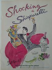 1956 shocking de Schiaparelli perfume bottle she'll love it vintage art ad