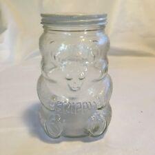 Vintage Glass Jar -  Beaver Figural Skippy Peanut Butter