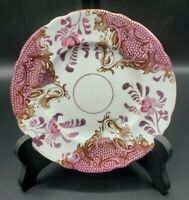 "Allertons 6"" Plate Brown Transferware with Pink Luster 1903-12 England"