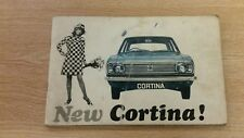 GENUINE FORD CORTINA MK2 OWNERS HANDBOOK  IN A GOOD USED COND FOR AGE FREE P&P