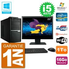 "PC Acer Veriton M4630G MT Ecran 22"" i5-4570 RAM 16Go Disque 1To DVD Wifi W7"