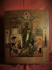 Icona San Giovanni Battista-Angelo del deserto con storia della vita XIX-1800