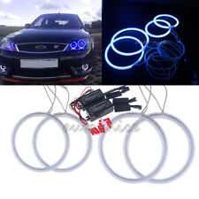 4x Blue CCFL Angel Eye Halo Ring Kit for Ford Mondeo MK III 2002-2007 90mm+115mm