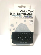 NEW VisionTek Mini Keyboard Ultra-Portable Waterproof Bluetooth Wireless NIB