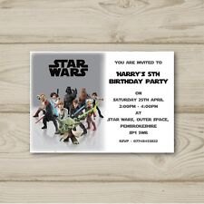 Star Wars Birthday Party Invitations Personalised