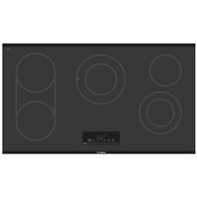 """Bosch NET8668UC 37"""" 800 Series Electric Cooktop Smoothtop Style in Black"""