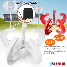 600W 12V Wind Turbine Vertical Wind Generator Kit Electricity Producer Equipment