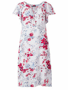 New EX Marks and Spencer White Floral Dress