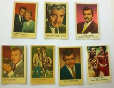 Lot of 7 - CLARK GABLE CARDS Star A Bilder Doris Day, Maria Elena Marquez