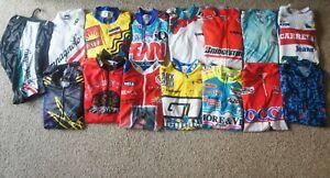 Lot Vtg 90's Bike Cycling Jerseys Campagnolo Pearl Izumi  Aussie GT Bridgestone