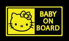 Baby on board, hello kitty, infant, kid, sticker vinyl decal, car, truck, window