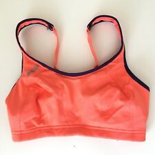 30DD Shock Absorber Sports Bra Orange Coral Activewear Gym Running Yoga Support