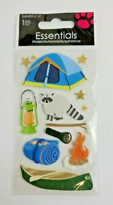 One (1) pkg of Essentials 3D Camping Stickers by SandyLion® - New & Sealed