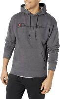 Champion Men's Graphic Powerblend Fleece Pullover Hoodie Grey Granite Heather