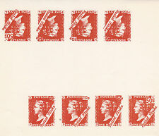 1971 STRIKE MAIL PL MAIL ALL 4 MP COMMEMORATIVES FULL SHEET OF 8 (a)
