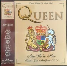 QUEEN Now We're Here JAPAN EDITION ON CLEAR VINYL