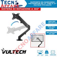 """Supporto da Scrivania Monitor 17"""" 27"""" Braccio Monitor Schermo Vultech TTV-02LITE"""