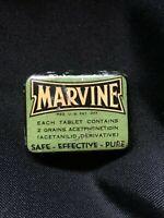 Vintage Medicine MARVINE Headaches Pain Medicine Tin Hinged Baltimore MD *EMPTY*