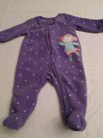 Baby girl long-sleeved footed blanket sleeper purple newborn monkey ice skater