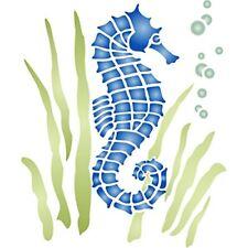 Seahorse stencil–riutilizzabile Sea Ocean Nautical Seashore Reef (k3I)