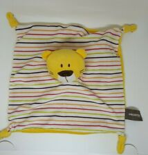 Doudou peluche Plat noeuds Chat Tigre ours rayé rayure jaune Orchestra NEUF 05