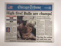 June 13, 1991 Michael Jordan Chicago Bulls Win 1st NBA Championship PRESTINE!