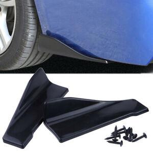 2X Glossy Car Bumper Spoiler Rear Lip Body Side Skirt Rocker Splitters Diffuser