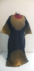 African Headtie Fashion Design Long Long Bazin Rich Embroidery Dress Women