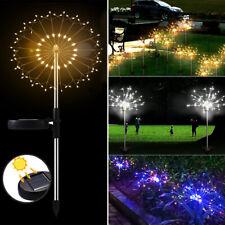 90/120/198 LED Solar Powered Outdoor Lamp For Garden Grass Lamp